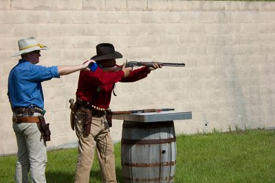 Cowboy action shooting association match